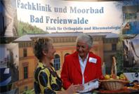 Frau Raupach am Stand Bad Freienwalde
