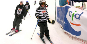 Teilnehmer des Ski-Marathon