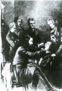 Albrecht v. Graefe bei der Behandlung