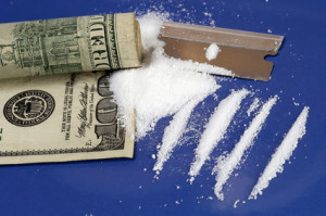 Kokain, Dollarschein, Drogen