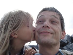 Vater und Tochter..