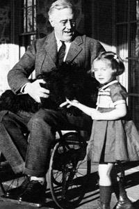 US-Präsident Roosevelt im Rollstuhl