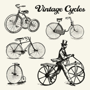 ...antike Fahrräder...