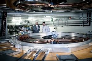Der Teilchenbeschleuniger im Protonenstrahl-Therapiezentrum Dresden