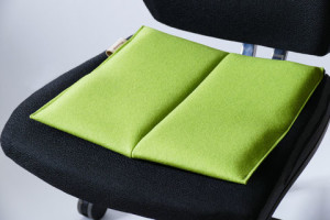 ...und so sieht ein Sitzkeil-Kissen aus.